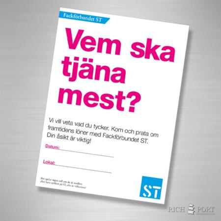 Framtidens löner - Affisch